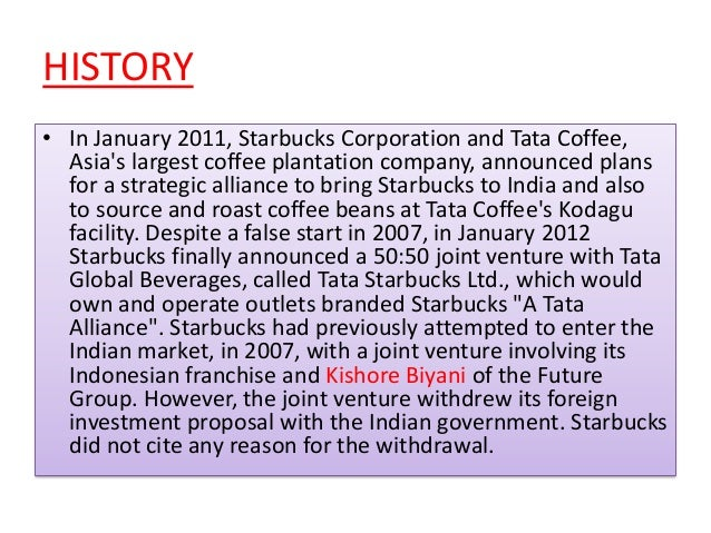 summary starbucks coffee company the indian dilemma Summary starbucks coffee company the indian dilemma company overview starbucks is an international company which was started in 1971 at seattle's pike place market.