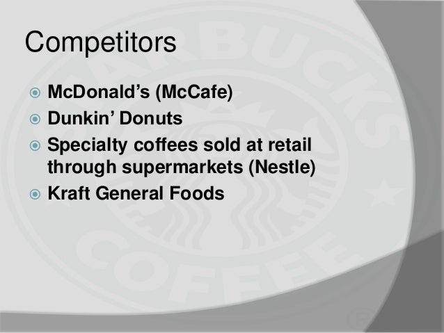 mcdonald s and starbucks compairson establishing Leaving mcdonald's web site you are leaving the mcdonald's corporation web site for a site that is controlled by a third party, not affiliated with mcdonald's.