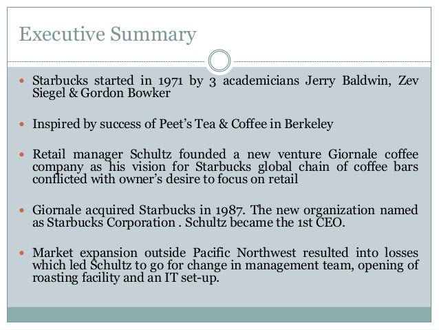 starbucks corporation case study in motivation and teamwork Case 9 nucor corporation and the us steel industry c-128  basically, the case  analysis method calls for a careful diagnosis of an  motivation for involvement  with and analysis of a  teamwork and innovation flourish,' declares abb's.