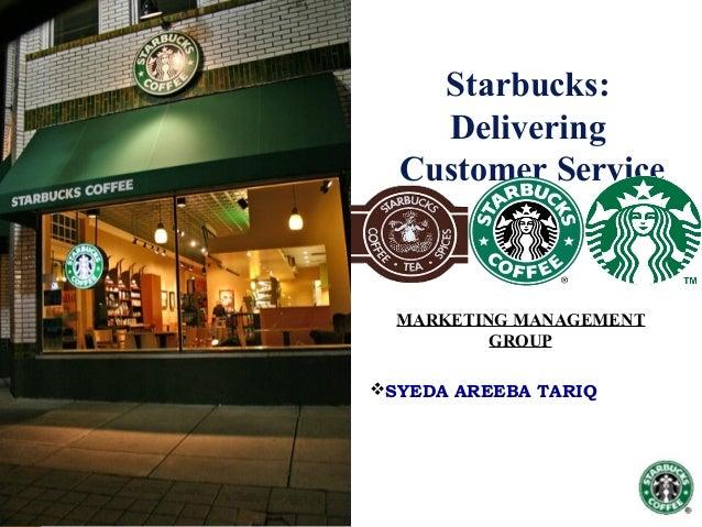 starbucks delivering customer service case