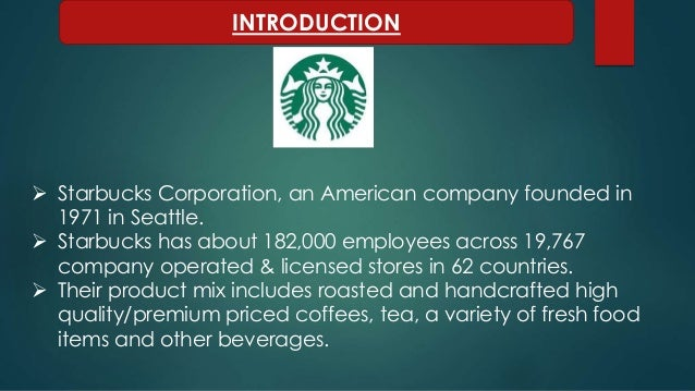 starbucks company profile study View the basic sbux stock chart on yahoo finance change the date range, chart type and compare starbucks corporation against other companies.
