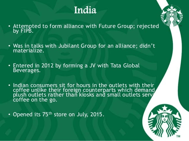 India • Attempted to form alliance with Future Group; rejected by FIPB. • Was in talks with Jubilant Group for an alliance...