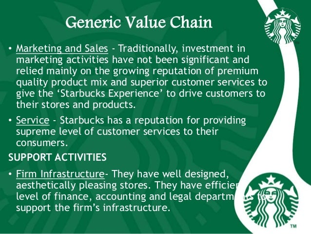 starbucks inbound logistics The primary value chain activities are: inbound logistics: the receiving and warehousing of raw materials, and their distribution to manufacturing as they are required.