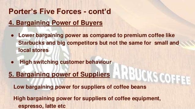 bargaining power of suppliers starbucks