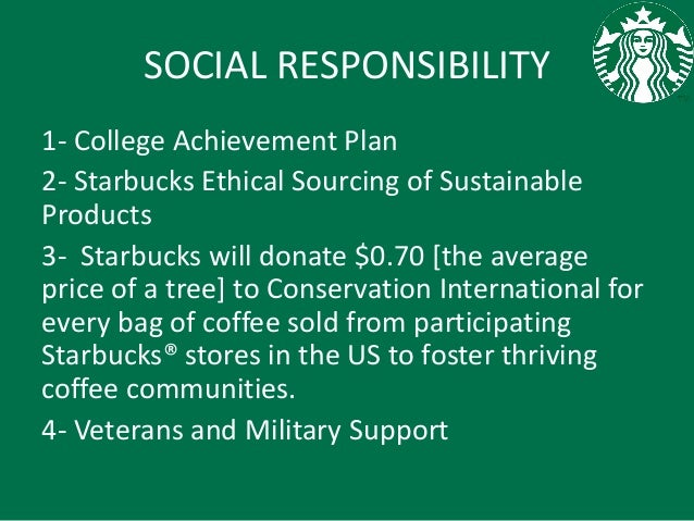 starbucks ethical issues Starbucks takes responsibility and ethics seriously learn how, as an ethical company, we care for our planet and everyone who makes starbucks possible.