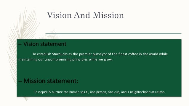 strategic service vision starbucks The coffee shop chain admits it had become too focused on promotional activity, which was no longer profitable and meant its focus had become too short term.