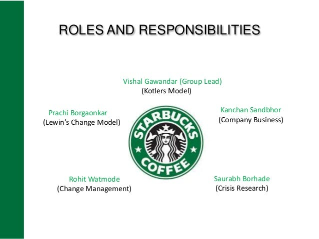 starbucks lewin s model Page 13 lewin'schange model: unfreeze change freeze create right reinforce to anchor support change environement change according to the starbucks position in the market and especially after the crisis, it could be that assumed that the company could have used this model to relate to change: if an organization is failing, it become important .