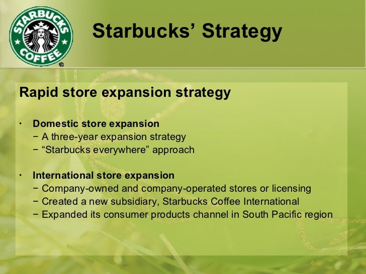 starbucks global expansion strategy Deloitte, through its successful global network of sector and strategy experts, provides services for determining efficient international expansion strategies.