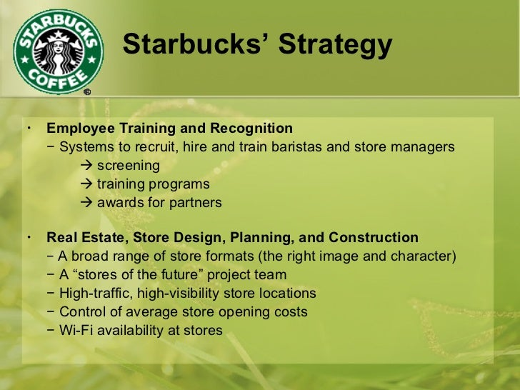 starbucks strategic plan The company outlined its strategic plan to continue growth at its 25th annual shareholder meeting, which was held on march 22 in seattle, washington this article will discuss starbucks' growth prospects as outlined in their annual meeting in detail.