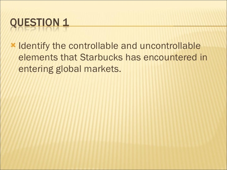 Starbucks-Going Global Fast