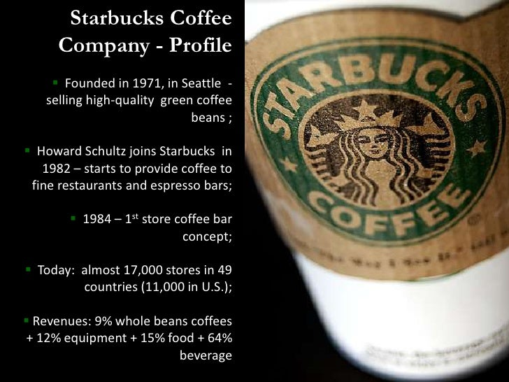 Starbucks Corp in Consumer Foodservice