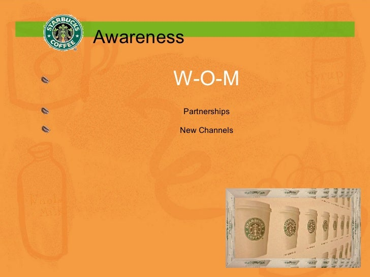 Awareness W-O-M Partnerships New Channels