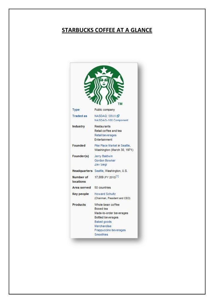 starbucks entry mode The internationalization process of coffeehouse chains: the starbucks case track 8: foreign entry mode and management of the value chain abstract.