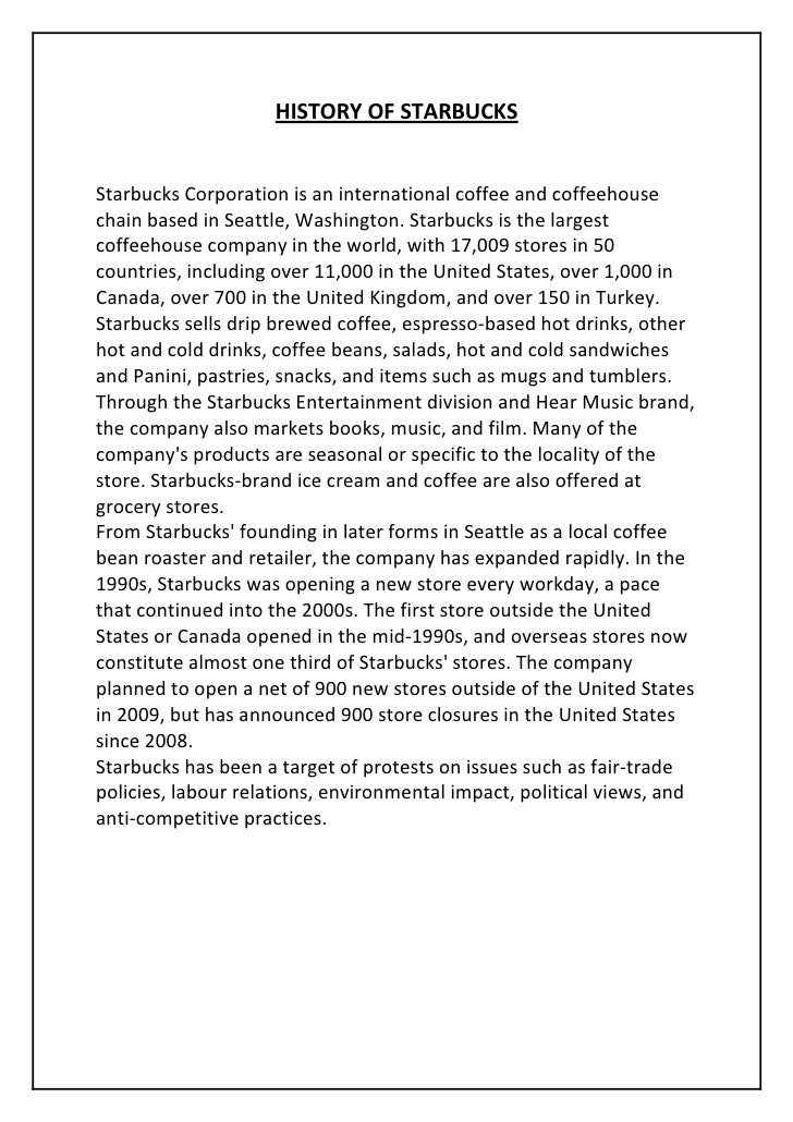 starbucks entry prospects in india The future of starbucks  ‐ the entry barrier for the coffee industry is relatively low, even for premium coffee like starbucks any large and well‐funded .