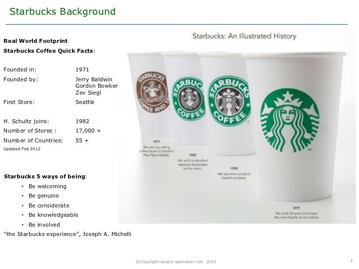 """starbucks industry case A look at the history of the starbucks  brand stories: the evolution of starbucks  according to the lippincott case study, """"starbucks wanted the new logo ."""