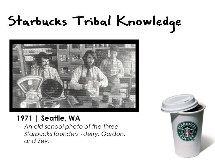 1971   Seattle, WA An old school photo of the three Starbucks founders --Jerry, Gordon,  and Zev.