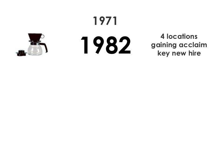 1971 1982 4 locations gaining acclaim key new hire