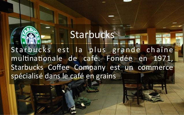 starbucks marketing mix 1 Marketing mix of starbucks coffee starbucks is the largest and most successful coffee house chain in the world it has more than 22500 of its stores running worldwide.