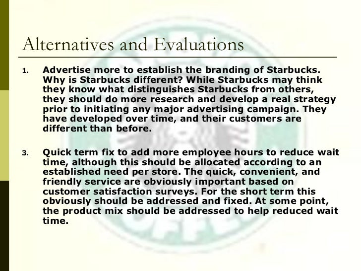 an evaluation of starbucks Scs ensures the integrity of the starbucks cafe practices program through oversight of approved third-party organizations who evaluate coffee suppliers' performance.
