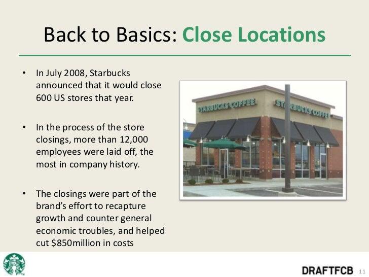 Starbucks back to basics corporate strategy