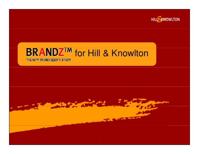 for Hill & Knowlton 1