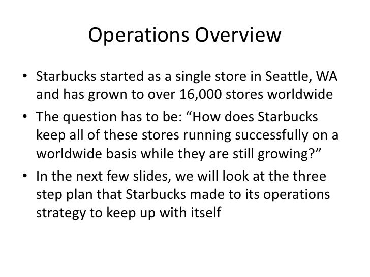 Starbucks discussion questions case study