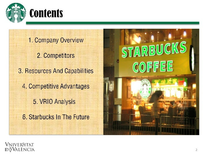 starbucks resources and capabilities Threshold resources for starbucks operations in the uk consist of venues, basic coffee machine, tables, cups, human resources etc however.