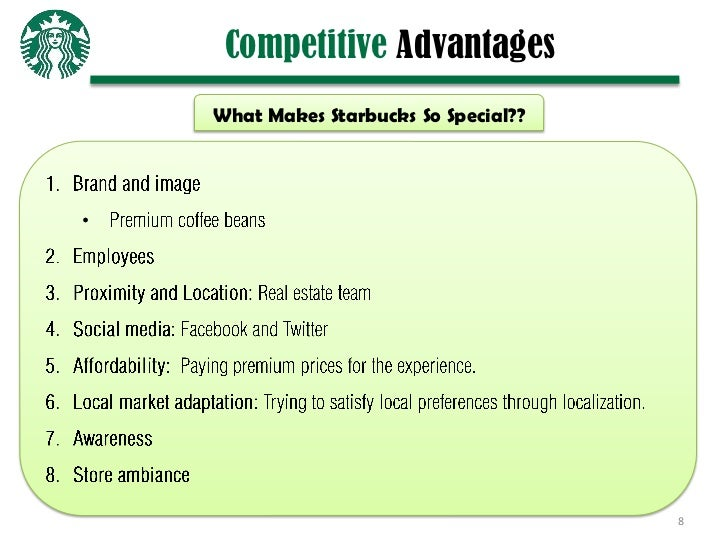 core competencies of starbucks Starbucks core competencies can be defined as high quality coffee and products at accessible locations and affordable prices, a community to share in the coffee drinking experience, and a variety.