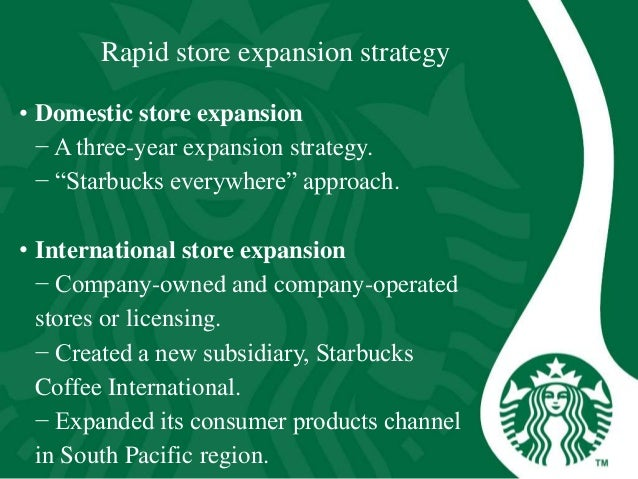 starbucks expanded internationally by licensing School of sustainable development of society and technology master thesis course - international business and entrepreneurship efo 705/ mima entry modes of starbucks.