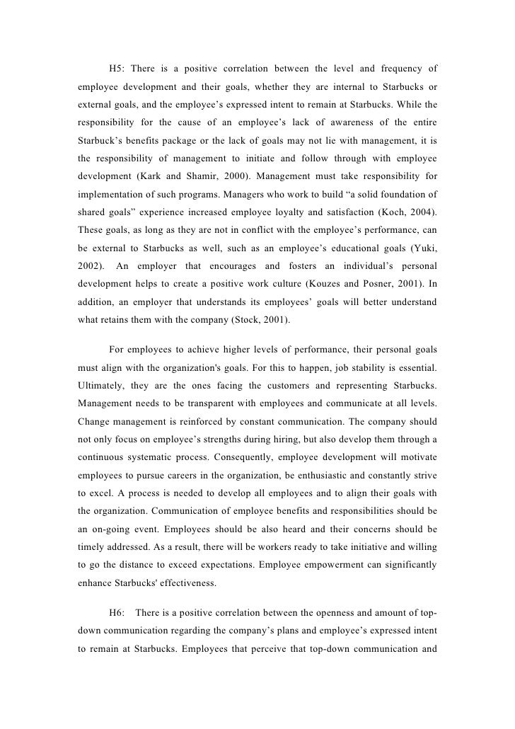 starbuck thesis Guide on how to write an essay on organizational structure of starbucks, customessayordercom  the thesis statement is the paper's main point it is focused.