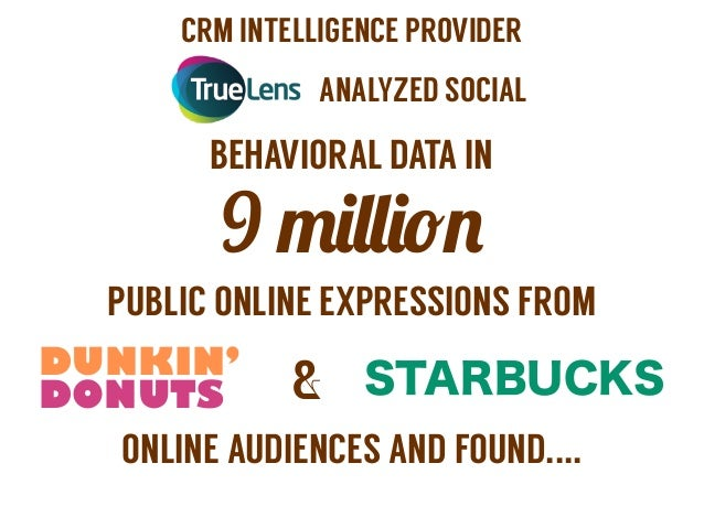25 Insights about Dunkin' Drinkers and Starbucks Drinkers Slide 2