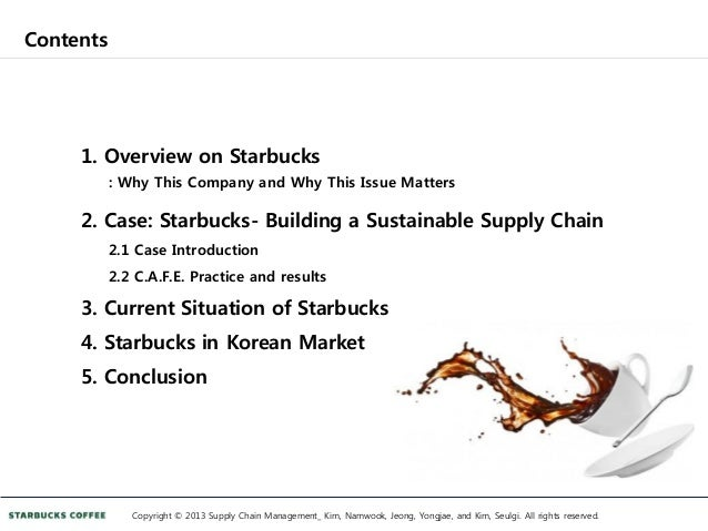 starbucks case study final Starbucks case solution, starbucks faces the question of how to leverage its core competencies against various opportunities for growth, including introducing its coffee in mcdonal.