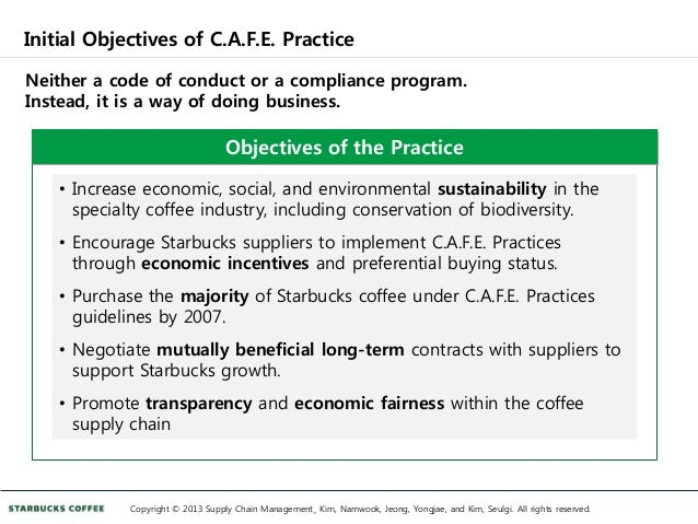 starbucks case study building sustainable supply chain rh slideshare net Clinical Practice Clinical Practice