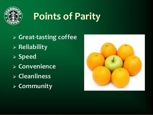 point of difference and point of parity