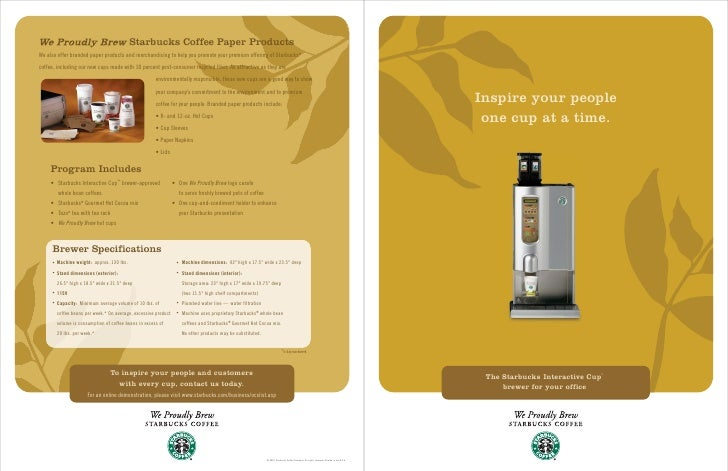 Starbucks Coffee Paper ProductsWe also offer branded paper products and merchandising to help you promote your premium off...