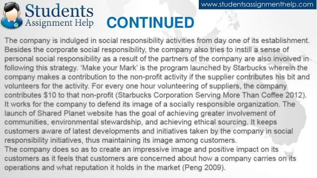 case 2 starbucks mission social responsibility Case - starbuck's mission: social responsibility and brand strength why do you think starbucks has been so concerned with social responsibility in its.