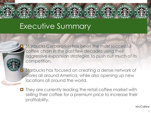 Starbucks - Competitive Analysis