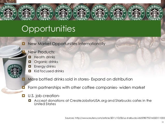 what opportunities and threats face starbucks Opportunities as per starbucks swot analysis one cardinal aspect that comes to the foray as a result of the starbucks swot analysis is the fact that both on the internal and external front, starbucks has several growth opportunities that it could capitalize on to overcome its weakness.