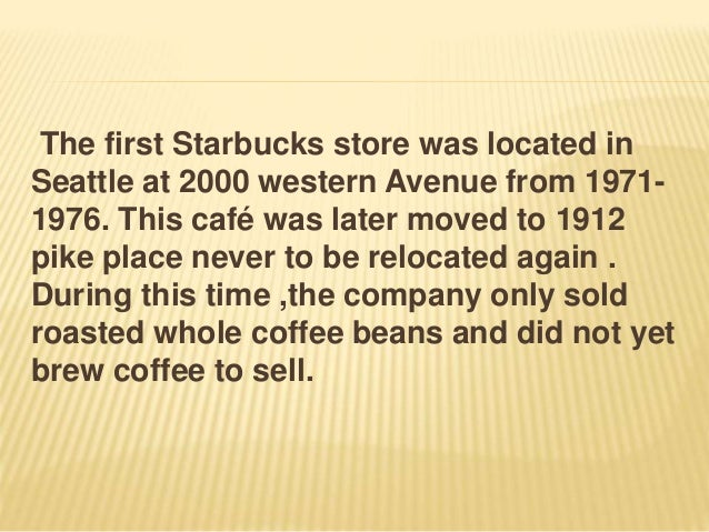 MARKETING STRATEGIES OF STARBUCKS