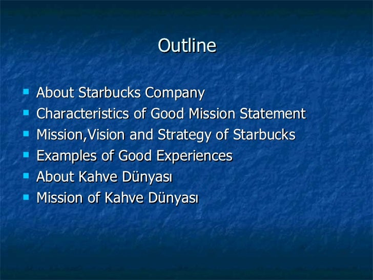 starbucks coffee vision statement