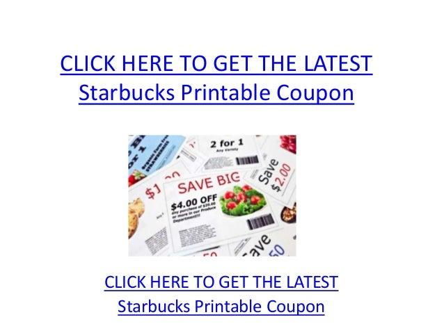 graphic relating to Starbucks Printable Coupon called Starbucks Printable Coupon - Starbucks Printable Coupon Code
