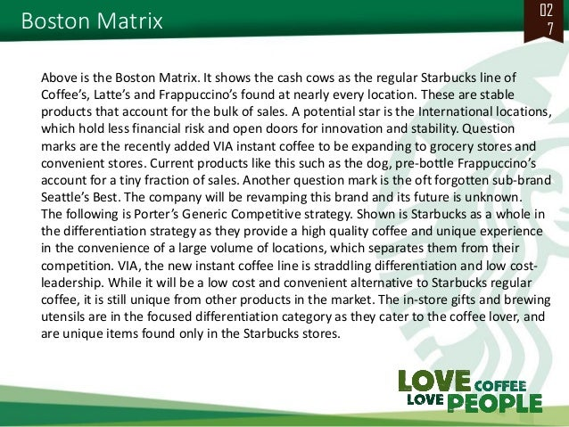 starbucks case report Starbucks with corporate social responsibility (csr)  we decided to choose starbucks company as a case study for this thesis  41 starbucks background.