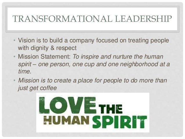 starbucks mission and vision