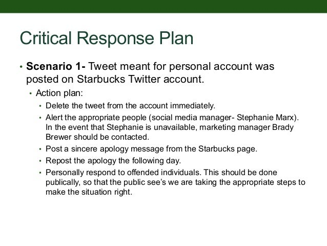 Scenario planning for starbucks