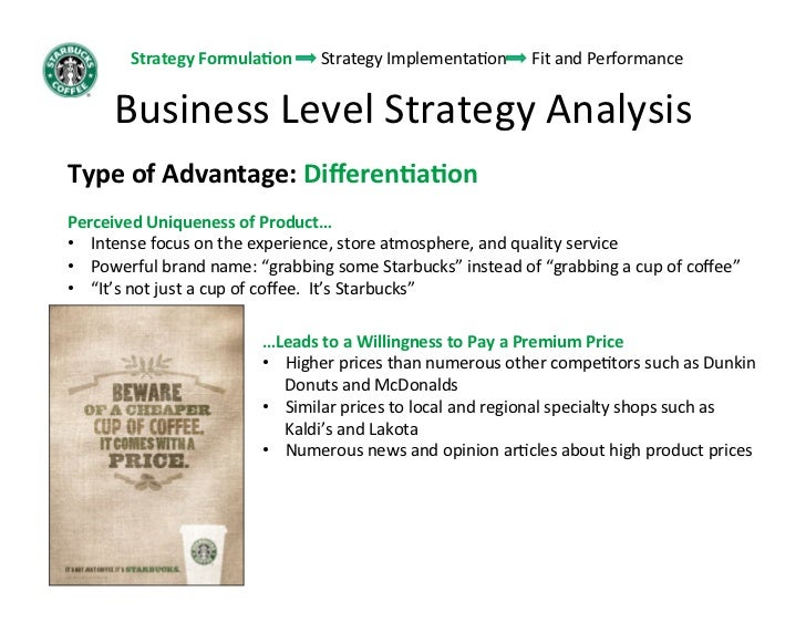 starbucks strategy strategy formulalon strategy implementamon