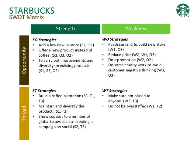 starbucks internal factors