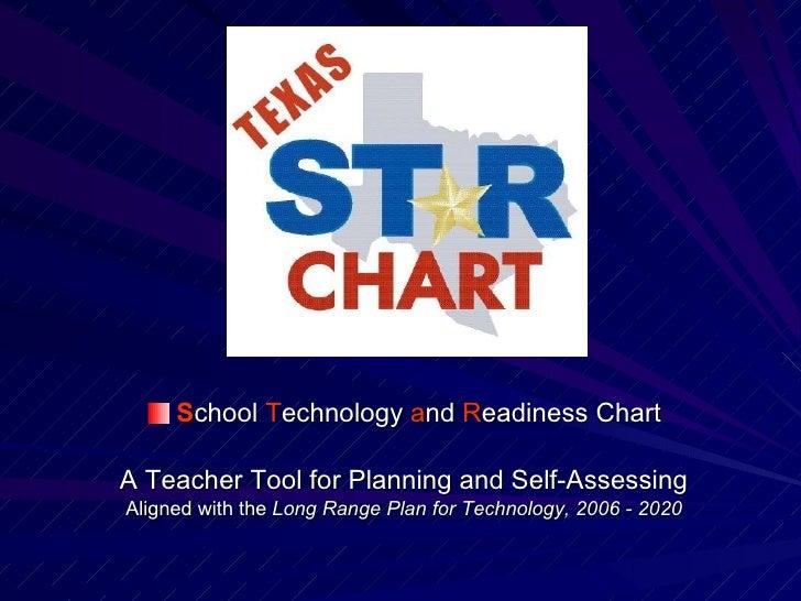<ul><li>S chool  T echnology  a nd  R eadiness Chart </li></ul><ul><li>A Teacher Tool for Planning and Self-Assessing </li...