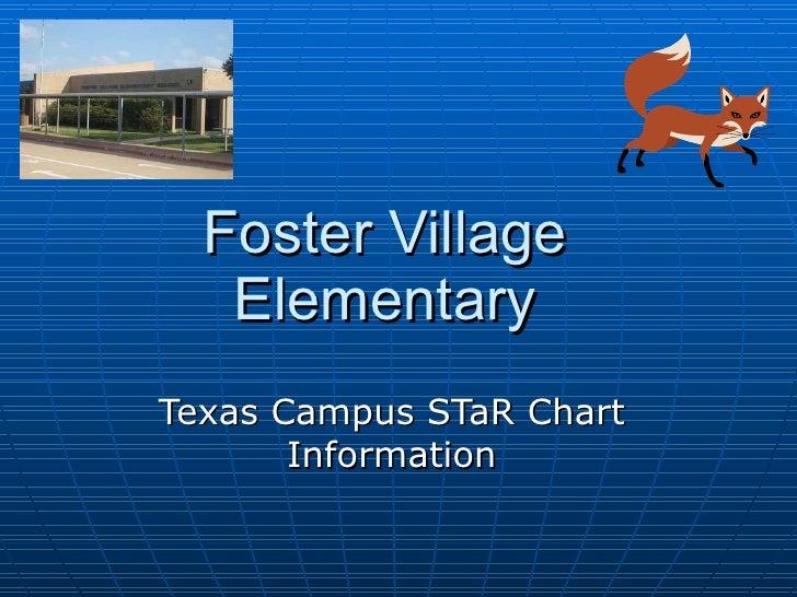 Foster Village Elementary Texas Campus STaR Chart Information
