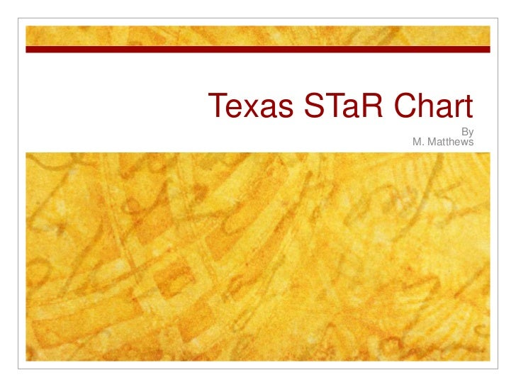 Texas STaR Chart<br />By <br />M. Matthews<br />