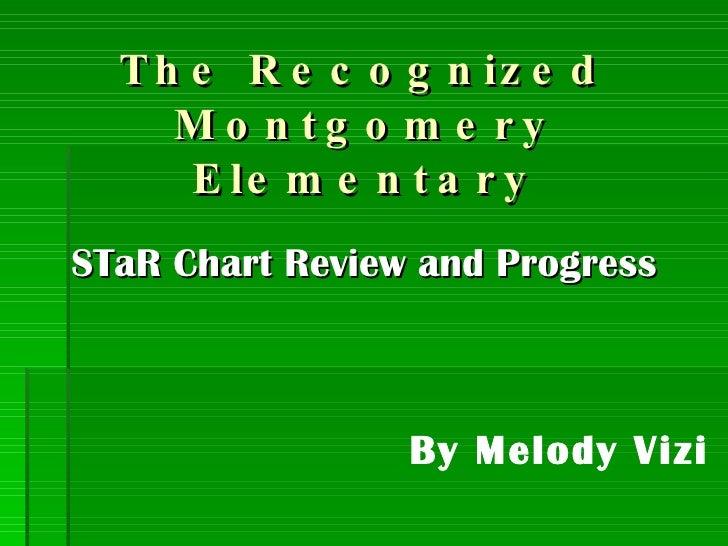The Recognized Montgomery Elementary <ul><li>STaR Chart Review and Progress </li></ul>By Melody Vizi
